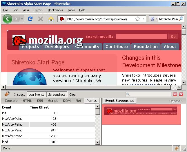 Firefox Paint Events Update on kylescholz com :: blog